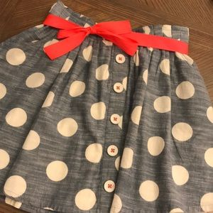 Monsoon chambray skirt